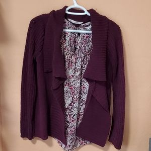 2 piece set for $30 cardigan and blouse